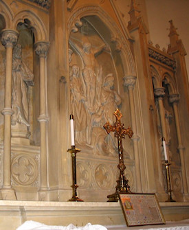 Limestone Altar Conservation: St. Thomas Church