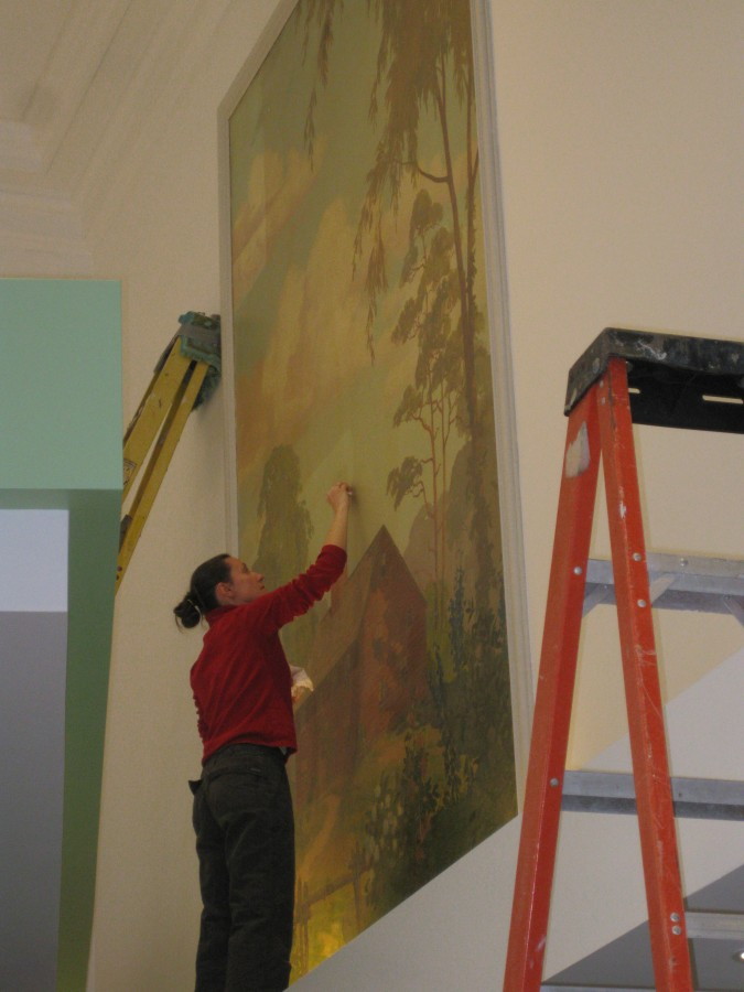 Mural Cleaning for TD Bank Buillding