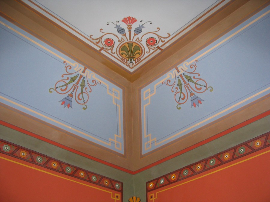 Paint Conservation and Stenciling of Billiards Room