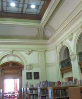 Decorative Plaster Repair: Lawrence Library