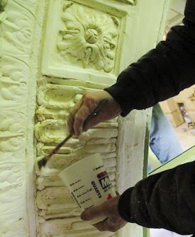 Decorative Plaster Dome Restoration: Old Stone Bank