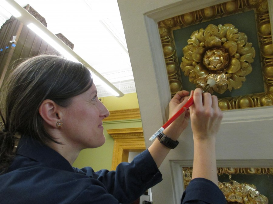 Gold Leaf Restoration and Gilding for State House Library