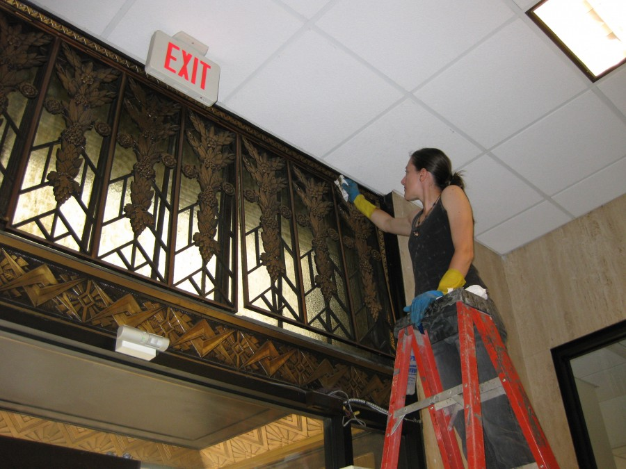 Historic Ornamental Metalwork Conservation for Art Deco Verizon Building