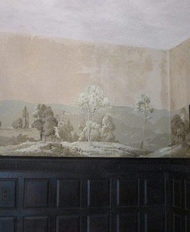 Wallpaper Mural Conservation: Whip Hill Museum