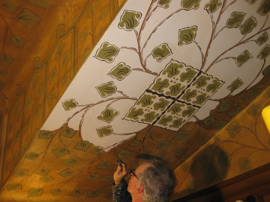 Decorative Paint Cleaning and Restoration for Historic Site