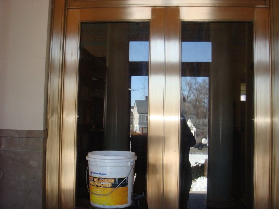 Bronze Door Restoration and Cleaning for Library