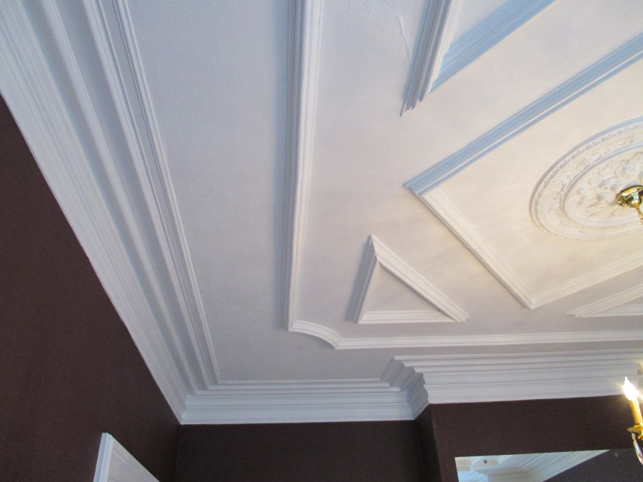 Decorative Plaster Restoration and Repair for Rhode Island Residence