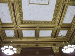 Decorative Plaster and Metal Finish Restoration for Courthouse